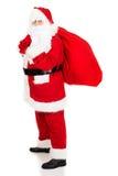 Foto von glücklicher Santa Claus in den Brillen stockfotos