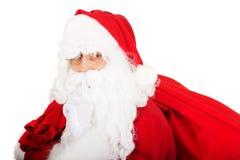 Foto von glücklicher Santa Claus in den Brillen lizenzfreies stockbild