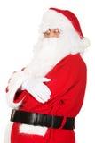 Foto von glücklicher Santa Claus in den Brillen lizenzfreie stockfotografie