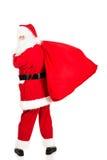 Foto von glücklicher Santa Claus in den Brillen lizenzfreies stockfoto