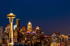 Foto von im Stadtzentrum gelegenem Seattle von Kerry Park Seattle lizenzfreie stockfotografie
