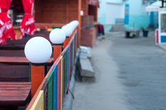 Foto von runden weißen Lampen Lizenzfreie Stockfotos