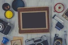 Foto y accesorios viejos Imagenes de archivo