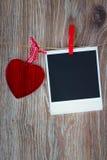 Foto y corazón inmediatos Imágenes de archivo libres de regalías