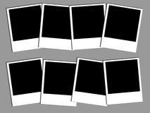Foto zes polaroids stock illustratie