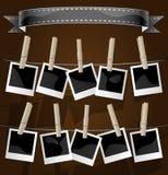 Fotoalbumhintergrund Stockbild