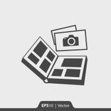 Fotoalbumikone für Netz und Mobile Stockbilder