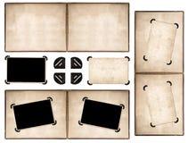 Fotoalbumseite mit Retrostilrahmen und -ecken Lizenzfreies Stockbild