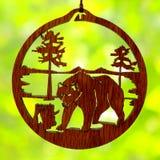 Fotoamulet met een beer Stock Foto's