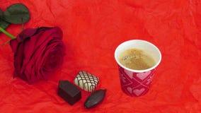Fotoanimering med en kopp kaffe arkivfilmer