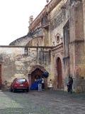 Fotoaufnahme in den historischen Gebäuden stockbild