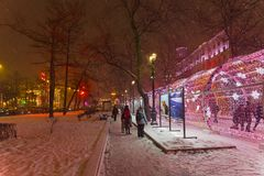 Fotoausstellung auf Tverskoy-Boulevard, Moskau, Russland Lizenzfreie Stockbilder