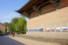Fotoausstellung im Tempel Lizenzfreies Stockfoto