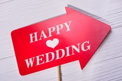 Fotobås för lyckligt bröllop Arkivfoto