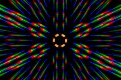 Fotobeugungsmuster der LED-Reihe, erhalten durch das Gitter Lizenzfreies Stockfoto