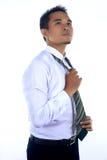 Fotobild av en stilig attraktiv ung asiatisk affärsmandre Arkivfoto