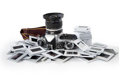 Fotocamera e diapositive Royalty Free Stock Image