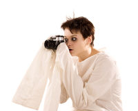 fotocamerakvinna Arkivfoto