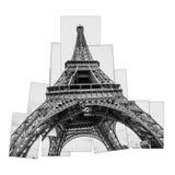 Fotocollage av Eiffeltorn royaltyfri fotografi