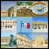 Fotocollage av Versailles i Paris Arkivbild