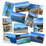 Fotocollage från mallorca semestrar Fotografering för Bildbyråer