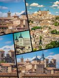Fotocollage från Toledo Spain Royaltyfri Foto