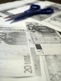 Fotocopias de cuentas euro Imágenes de archivo libres de regalías