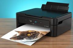 Fotodrucker mit Katze Lizenzfreies Stockfoto