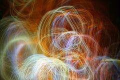 Fotoeffekter, bakgrund, ljus abstraktion Arkivfoto