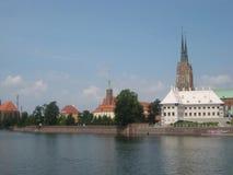 Fotoet av det stads- landskapet av Wroclaw Polen Arkivbilder