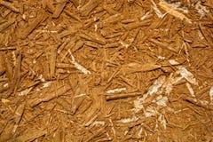 Fotoet av en gammal träbrädetextur består av wood sågspån Royaltyfria Bilder