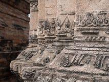 Fotoet av forntida byggnad i historiska Ayutthaya parkerar Royaltyfri Bild