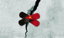 Fotoet behandlade idén för att bygga om Papua Nya Guinea efter jordskalv Royaltyfri Fotografi