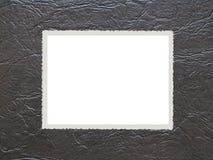 Fotofeld auf altem Leder lizenzfreies stockfoto