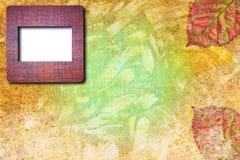 Fotofelder auf gebrochenem Weinlesehintergrund Lizenzfreie Stockbilder