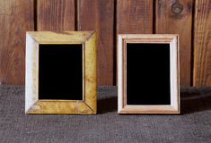 Fotofelder auf Tabelle lizenzfreies stockfoto
