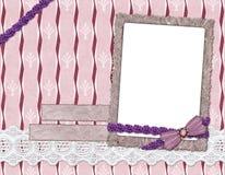 Fotofelder, verziert mit einem Bogen Lizenzfreie Stockbilder