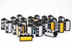Fotofilmkassetter arkivbilder