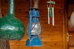 Fotogenlampa i den öppna luften albacoren fotografering för bildbyråer
