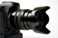 Fotográfica, telelens, digitais, foco, câmera, Fotos de Stock Royalty Free
