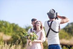 Fotograaf in actie Royalty-vrije Stock Foto