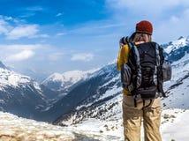 Fotograaf, in Chamonix Mont Blanc. Royalty-vrije Stock Afbeeldingen