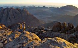 Fotograaf in de bergen Royalty-vrije Stock Afbeelding