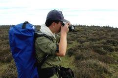 Fotograaf in de wildernis Royalty-vrije Stock Afbeeldingen