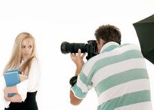 Fotograaf die Beelden neemt Royalty-vrije Stock Afbeelding