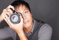 Fotograaf die een foto neemt Royalty-vrije Stock Foto's