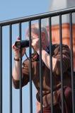 Fotograaf die een foto neemt Royalty-vrije Stock Afbeeldingen