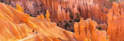 Fotograaf die een foto van rotsvormingen nemen in Zion Canyon-Na stock fotografie