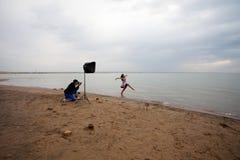 Fotograaf en model Royalty-vrije Stock Afbeeldingen