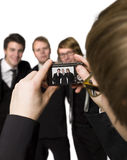 Fotograaf en modellen royalty-vrije stock afbeelding